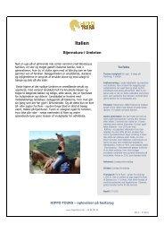 Italien - Rideferie i hele verden