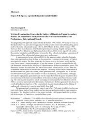 Abstracts Sesjon 5 B: Språk- og tekstdidaktiske innfallsvinkler ...