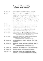 Program for Maskinudstilling og Åbent Hus 1. juni 2006