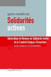 Généraliser le Revenu de solidarité active et le Contrat ... - Handipole