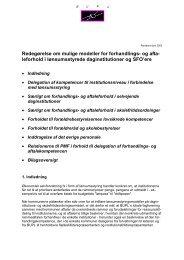 Redegørelse om mulige modeller for forhandlings- og afta ... - Bupl