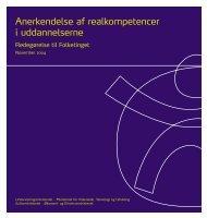 Anerkendelse af realkompetencer i uddannelserne