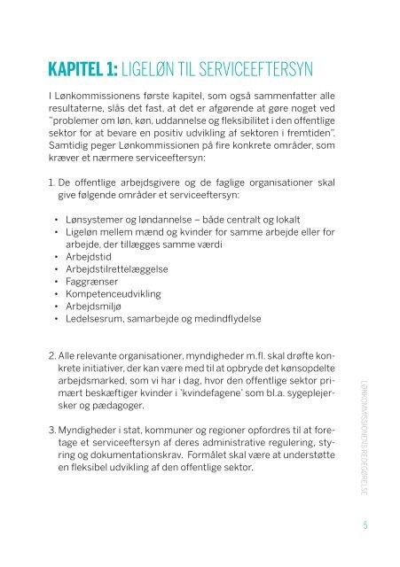 LØNKOMMISSIONENS REDEGØRELSE - Jordemoderforeningen