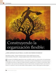 Construyendo la organización flexible: - INCAE Business Review