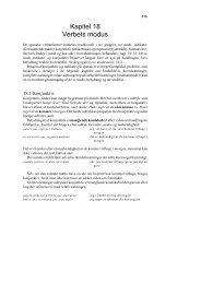 Kapitel 18 Verbets modus - quijote.dk