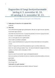 Lang bestyrelsesmøde 05.-06. november 2011