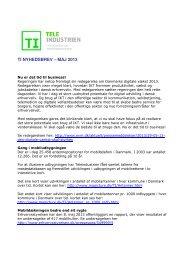 TI NYHEDSBREV – MAJ 2013 - Teleindustrien