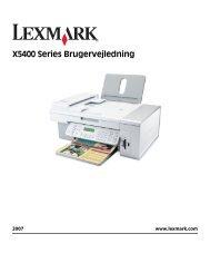 X5400 Series Brugervejledning - Lexmark