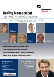 Quality Management - Teknologisk Institut