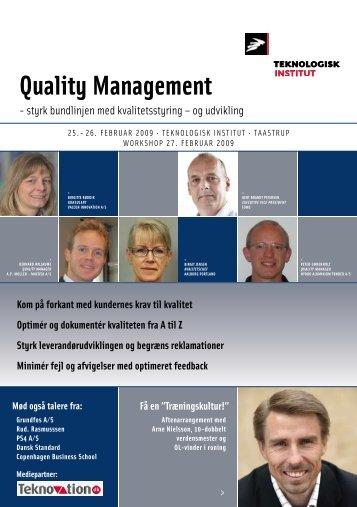 Quality Management - Teknologisk Institut