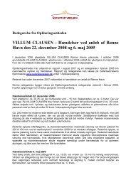 Ny redegørelse VILLUM CLAUSEN - Søfartsstyrelsen