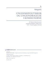 Unges inddragelse i kommunerne - Dansk Ungdoms Fællesråd