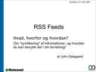 DanNotes: RSS Feeds - hvad, hvorfor og hvordan?