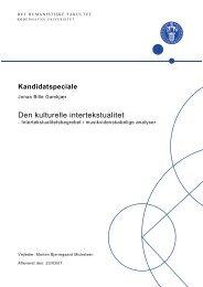 Intertekstualitetsbegrebet i musikvidenskabelige analyser - Jonas Bille