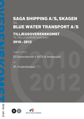 SAGA SHIPPING A/S, SKAGEN BLUE WATER TRANSPORT A/S