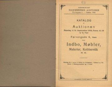 Indbo, Møbler, Malerier, Kobberstik