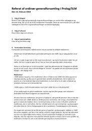 Referat af ordinær generalforsamling i Prolog ... - SLM København