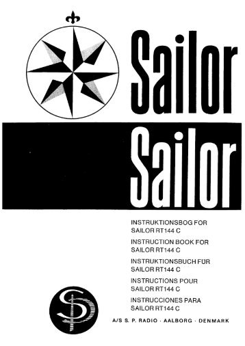 INSTRUKTIONSBOG FOR SAILOR RT144 C ... - Polaris-as.dk