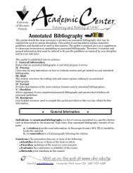 Annotated Bibliography - University of Houston-Victoria