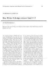 Max Weber Udvalgte tekster bind 1+2