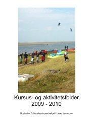 Kursus- og aktivitetsfolder 2009 - 2010 - Læsø Kommune