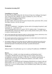 Formandens beretning 2013 Nedtællingen er begyndt På ... - stormus