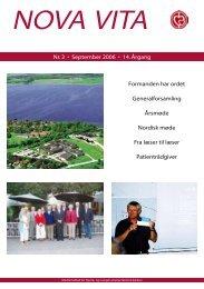 Nova Vita 2006-3 - Hjerte- og Lungetransplantationsklubben