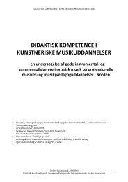 DIDAKTISK KOMPETENCE I KUNSTNERISKE - Rytmisk ...