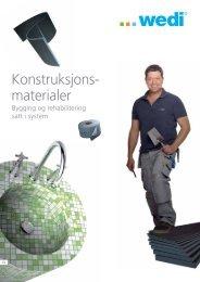 Wedi konstruksjonsmaterialer 2009 - Montering - Nordic Tools AS