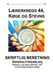 Skriftlig beretning 2012