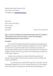 Nyborgs klage til rektor - Professor Emeritus Dr. Phil. Helmuth ...