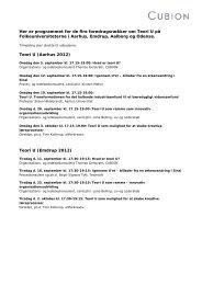 Her er programmet for de fire foredragsrækker om Teori U ... - Cubion