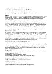 Stillingsbeskrivelse: Redaktør til Teknik & Miljø og KTC