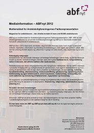 Mediainformation 2012 - ABF