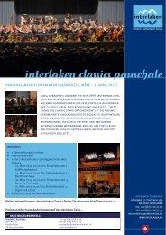 pauschalangebot interlaken classics (22. märz – 1. april 2013)