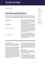 Xenotransplantation i PDF format. - Teknologirådet