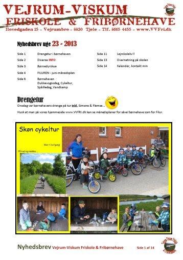 VVFF-Nyhedsbrev 2013-23 - Vejrum-Viskum Friskole