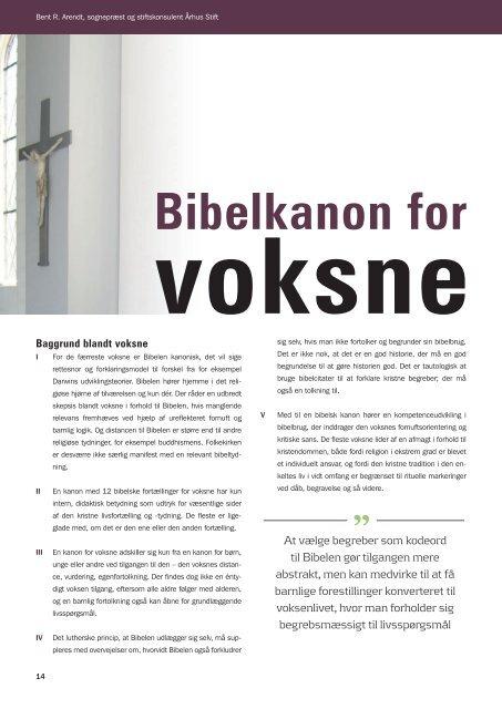 Bibelkanon for voksne af Bent R. Arendt - Kirken Underviser