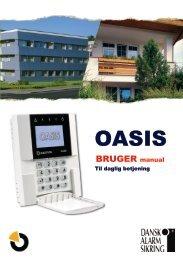 Brugermanual til Oasis - Dansk Alarm Sikring