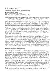 Den tredelte model - artikel DK - Abduktiv læring