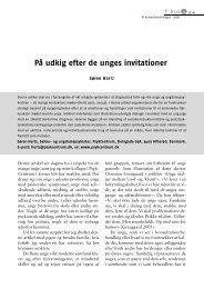 På udkig efter de unges invitationer. Hertz S (2006) - PsykCentrum