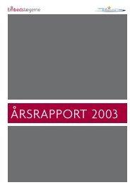 ÅRSRAPPORT 2003 - Sundhedsstyrelsen