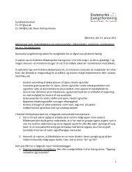 Høringssvar vedr. bekendtgørelse om grænseværdier, målemetoder ...