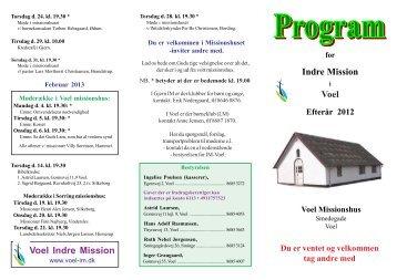 Program - Voel Indre Mission