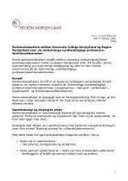 Partnerskabsaftale mellem UCN og region Nordjylland - Sygehus ...
