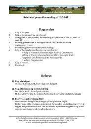 Referat af generalforsamling 2011 - eskemosepark.dk