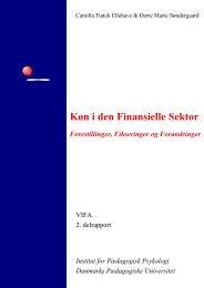 Køn i den Finansielle Sektor - Union in Nordea