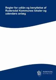 Regler for udlån og benyttelse af Rudersdal Kommunes ... - Holte Ski