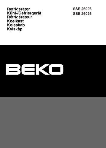Bedienungsanleitung (PDF) - Beko-home.at