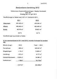 1. April 2013 Bestyrelsens beretning 2012 - Næsby Vandværk